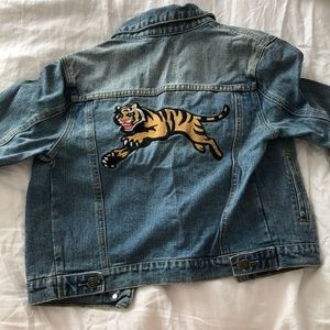 Forever 21 Jean jacket with embroidered tiger